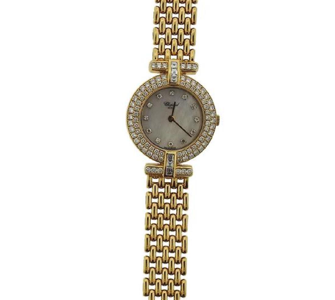 Chopard Diamond MOP Dial 18k Gold Watch