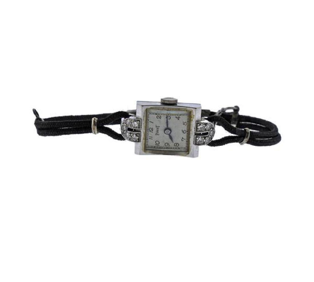 Vintage Piaget 14k Gold Diamond Watch