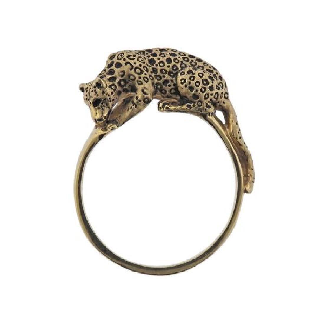 14K Gold Jaguar Ring