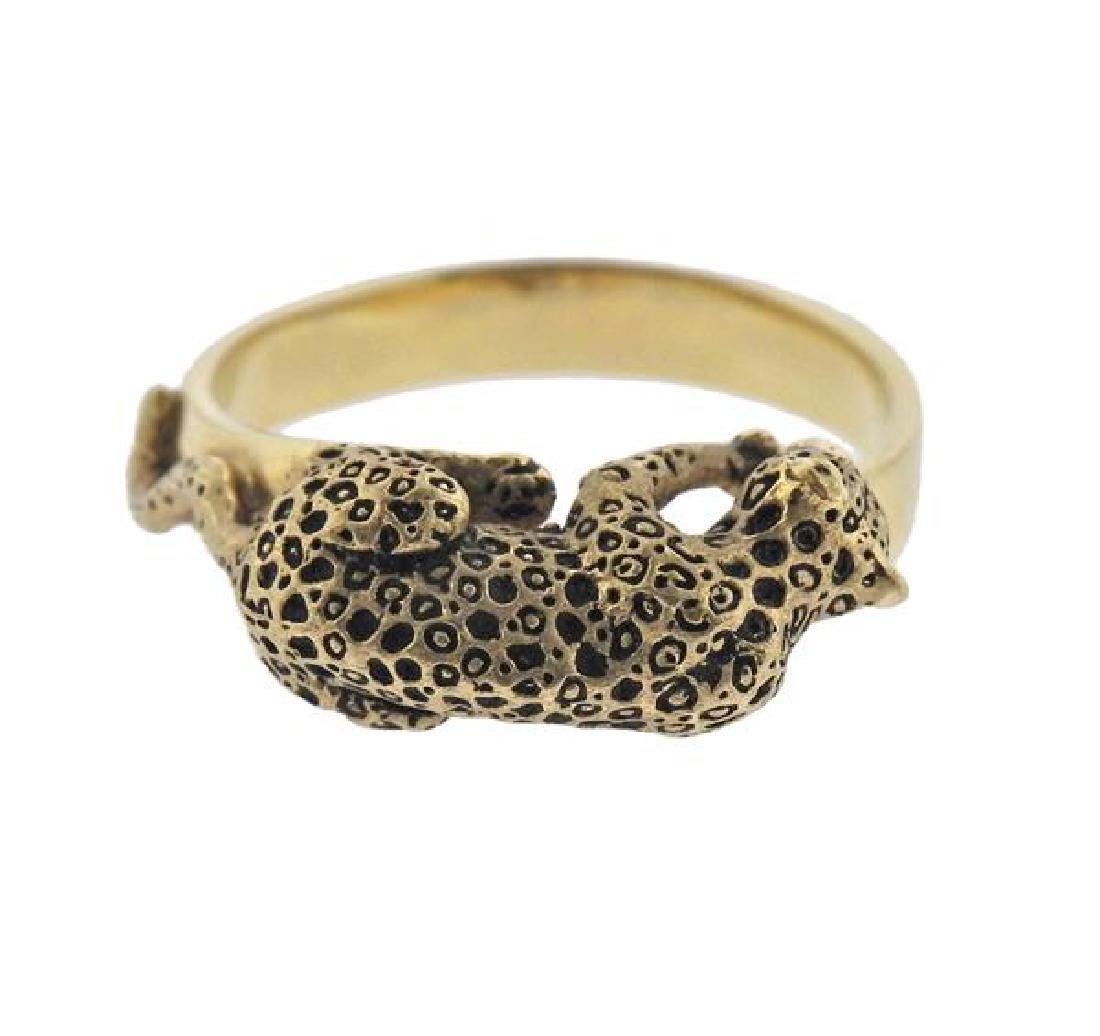 14K Gold Jaguar Ring - 2