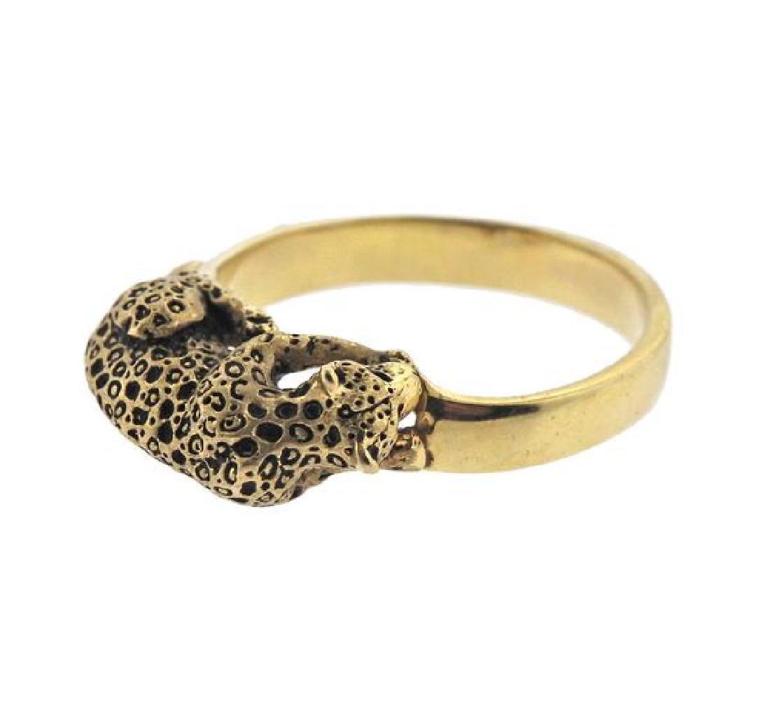 14K Gold Jaguar Ring - 3