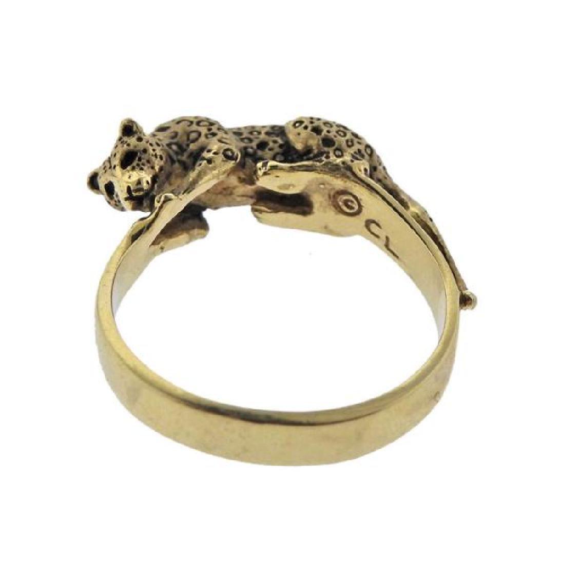 14K Gold Jaguar Ring - 4