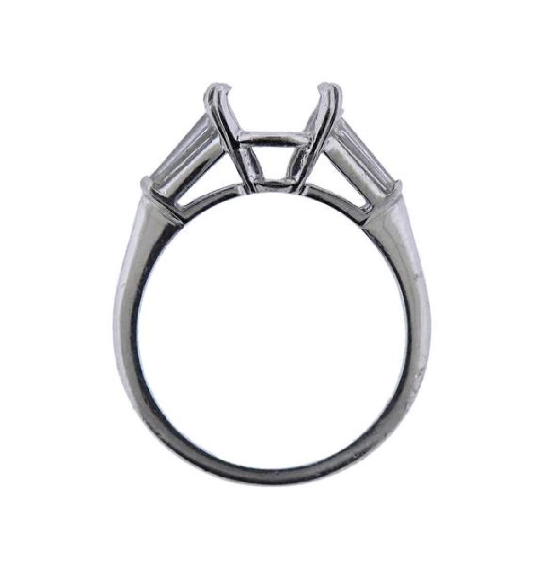 Platinum Diamond Engagement Ring Mounting - 3