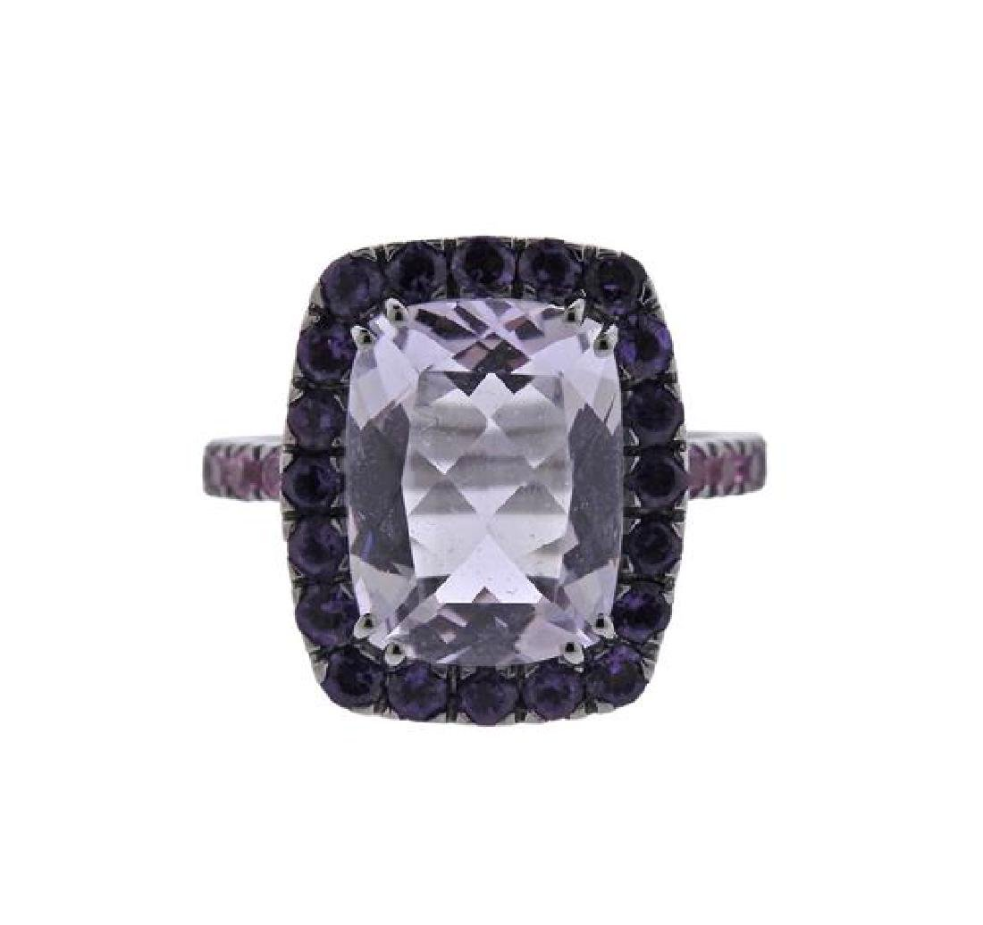 A & Furst Dynamite 18K Gold Purple Pink Gemstone