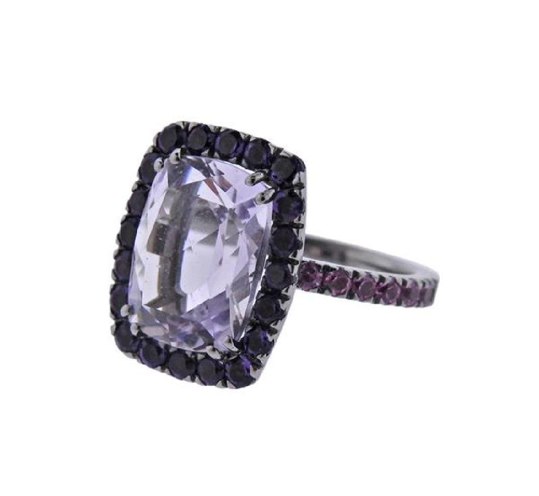 A & Furst Dynamite 18K Gold Purple Pink Gemstone - 2