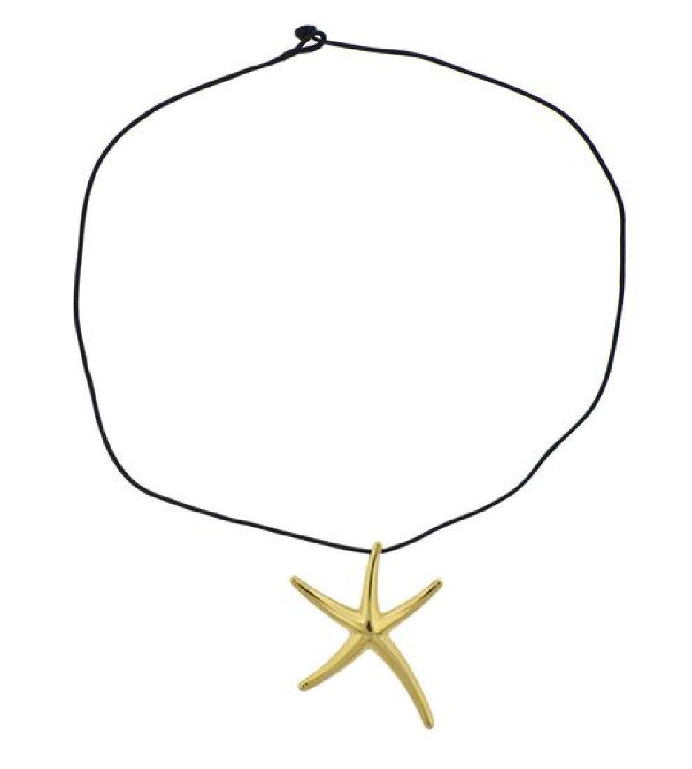 Tiffany & Co Peretti 18K Gold Starfish Pendant