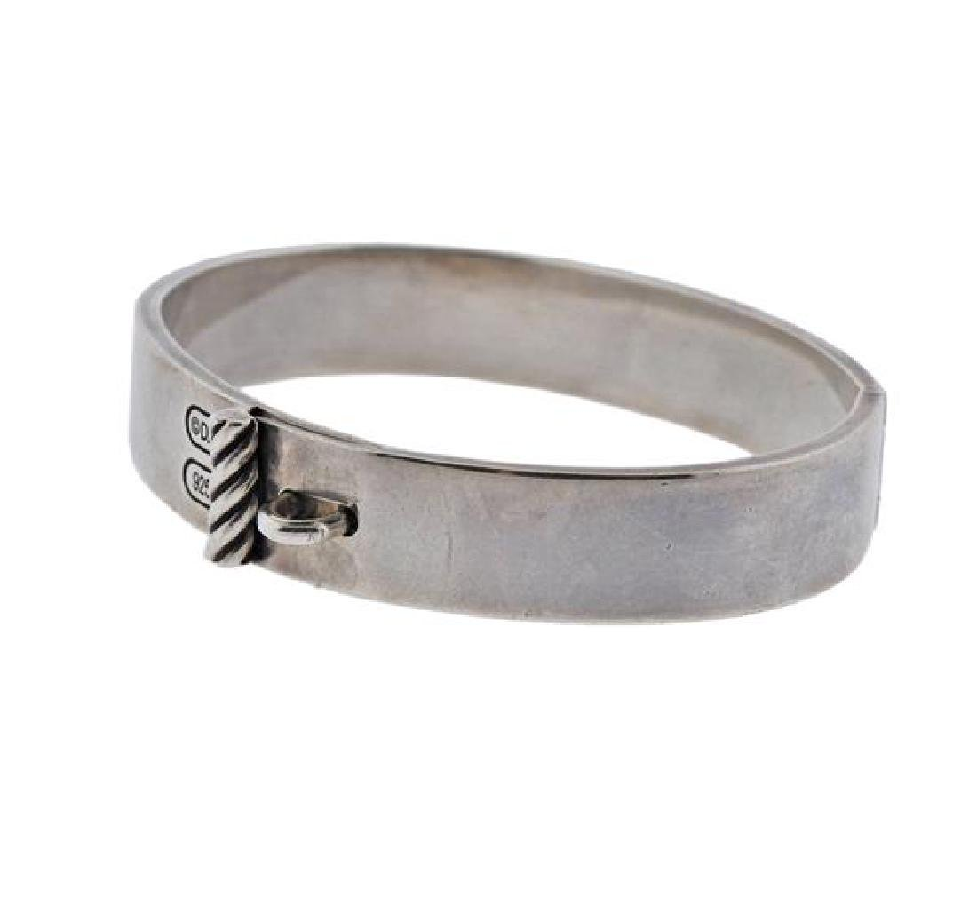 David Yurman Sterling Silver Bangle Bracelet - 2
