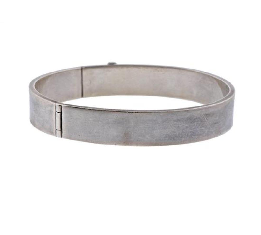 David Yurman Sterling Silver Bangle Bracelet - 3