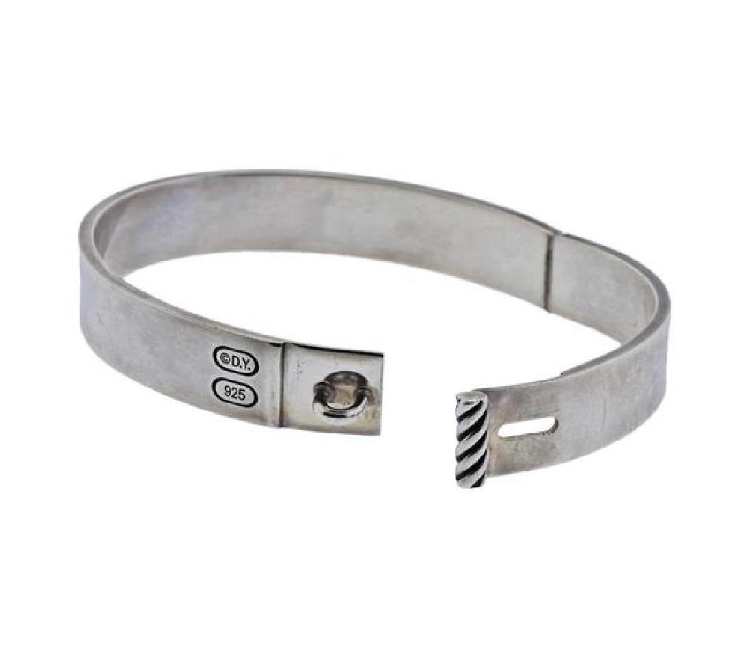 David Yurman Sterling Silver Bangle Bracelet - 4