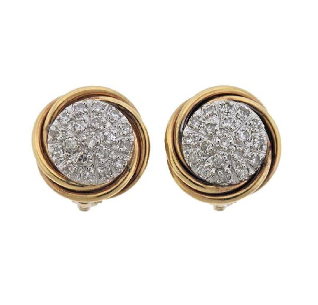 14K Gold Diamond Earrings