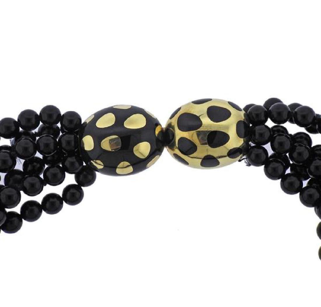 Tiffany & Co Gold Jade Positive Negative Clasp Bead - 2