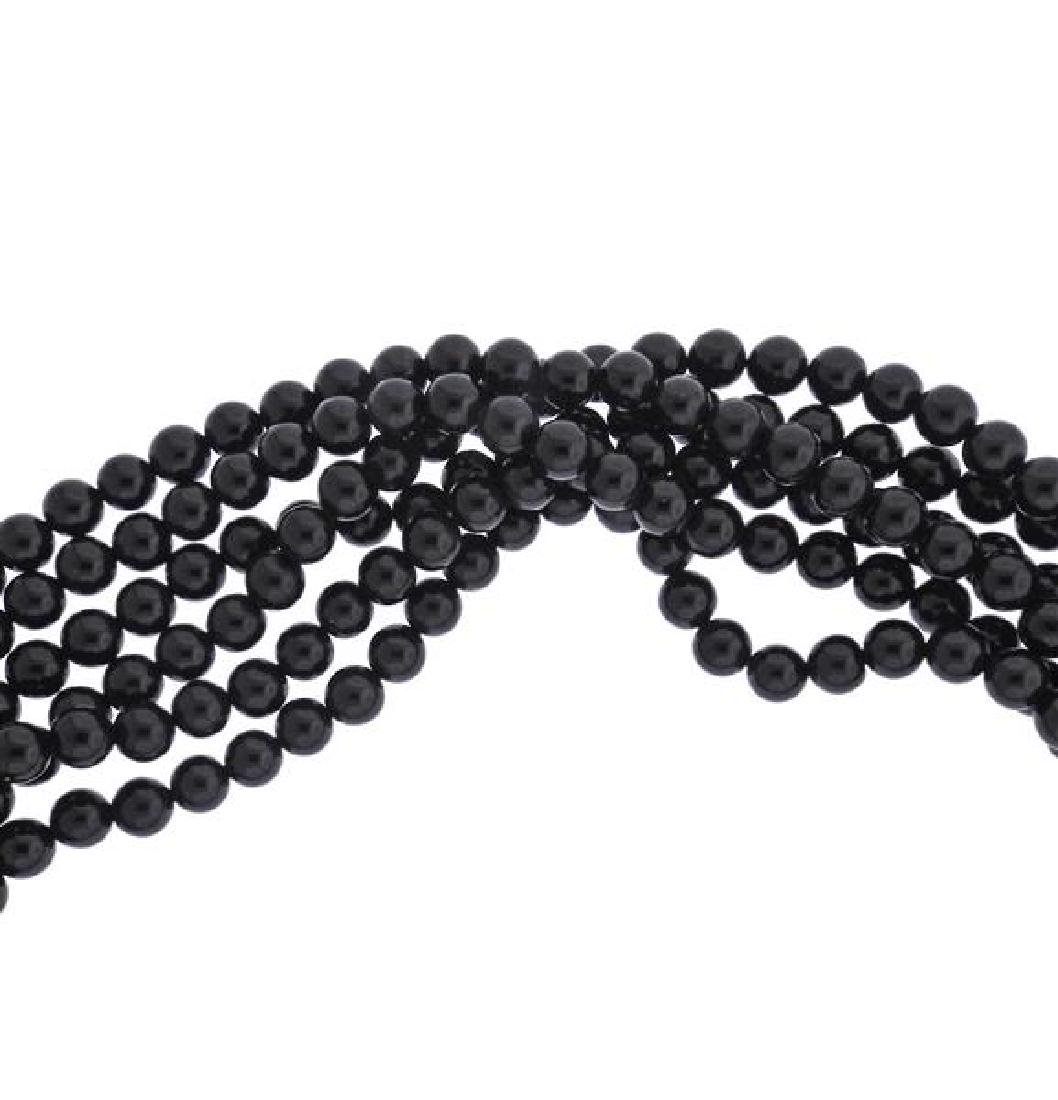 Tiffany & Co Gold Jade Positive Negative Clasp Bead - 3