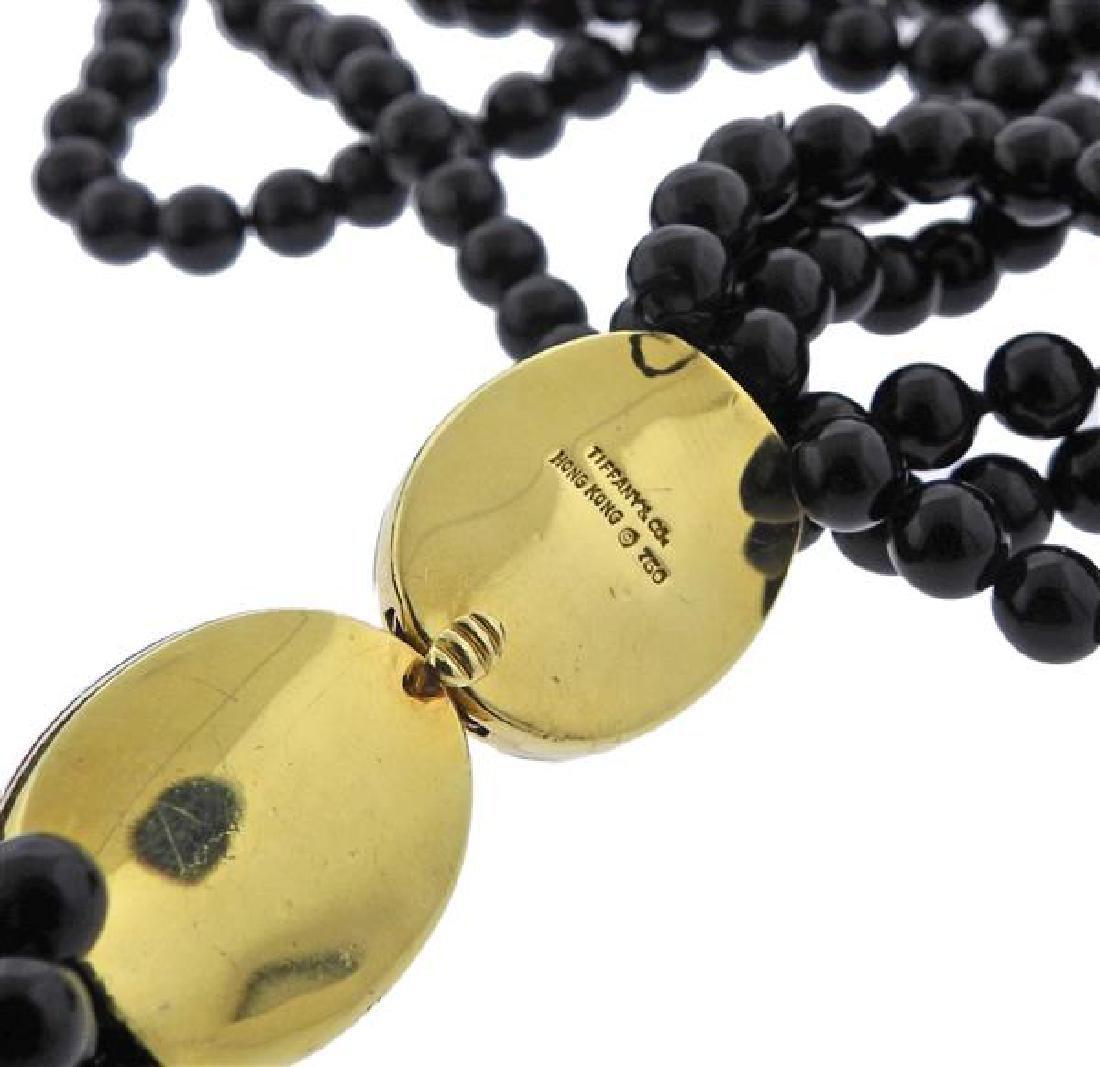 Tiffany & Co Gold Jade Positive Negative Clasp Bead - 4