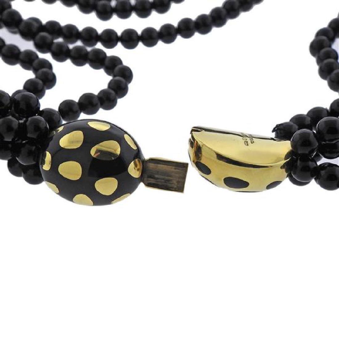 Tiffany & Co Gold Jade Positive Negative Clasp Bead - 5