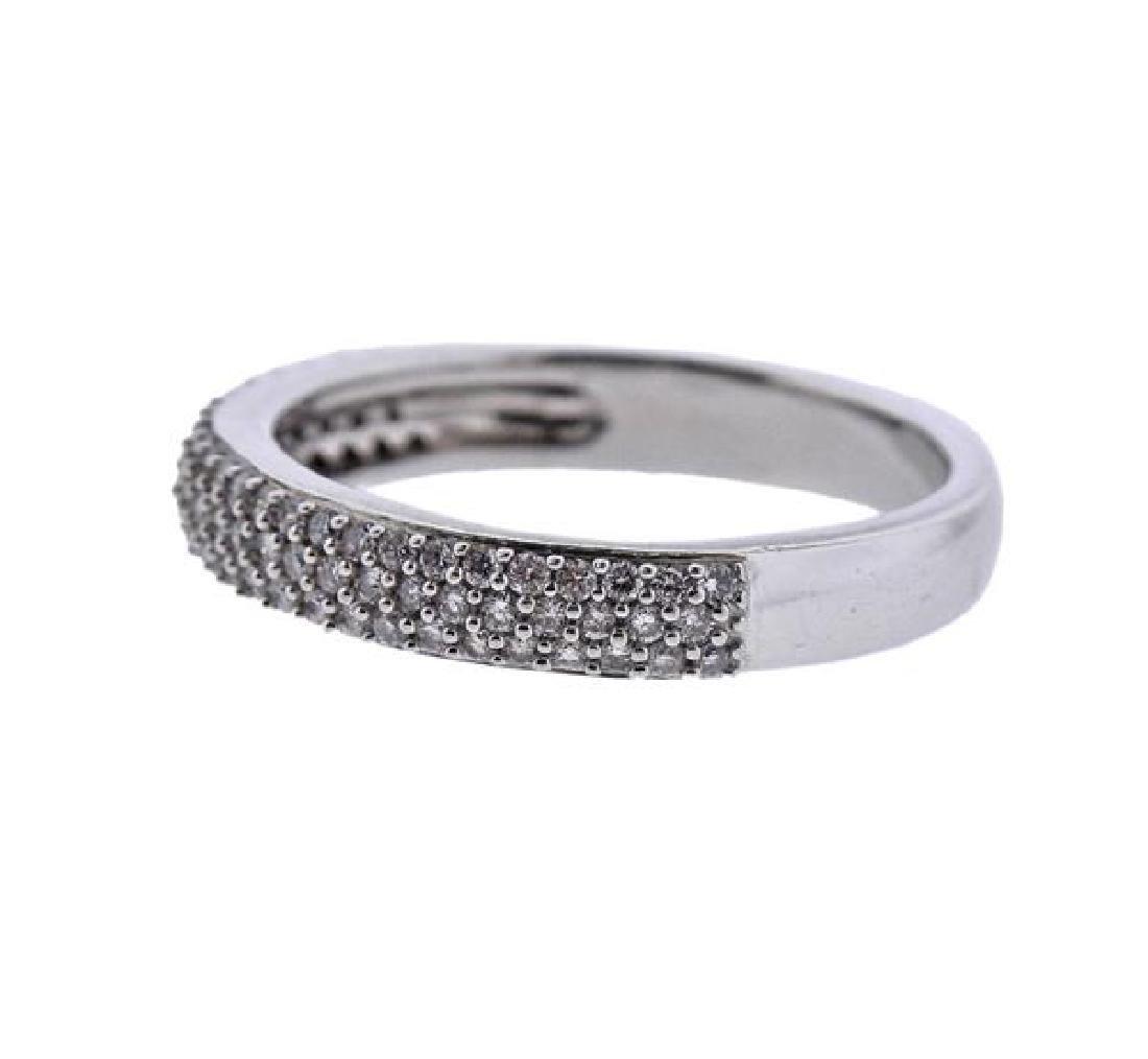 14K Gold Diamond Half Band Ring - 2