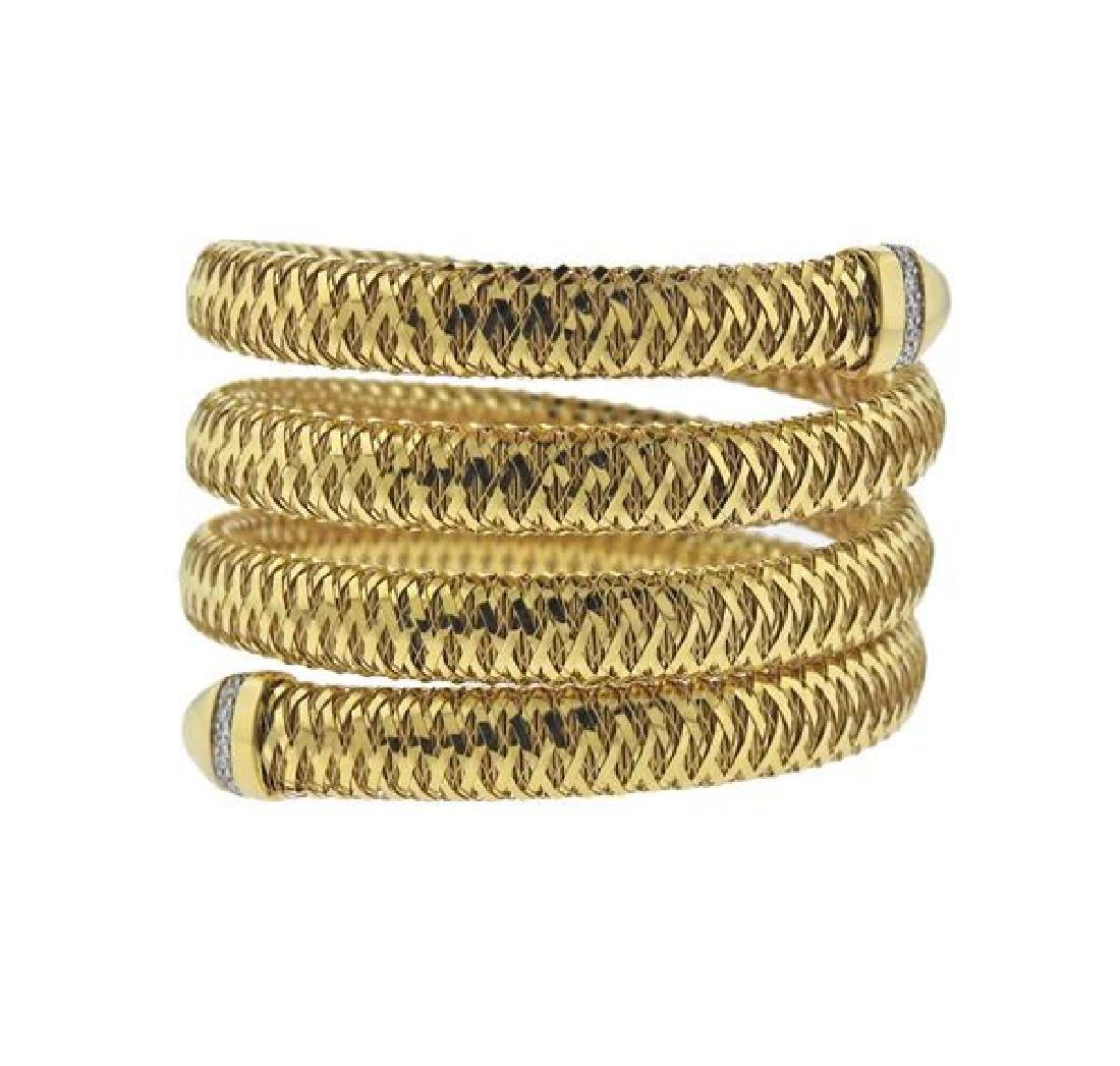 Roberto Coin Primavera 18K Gold Diamond Wrap Bracelet