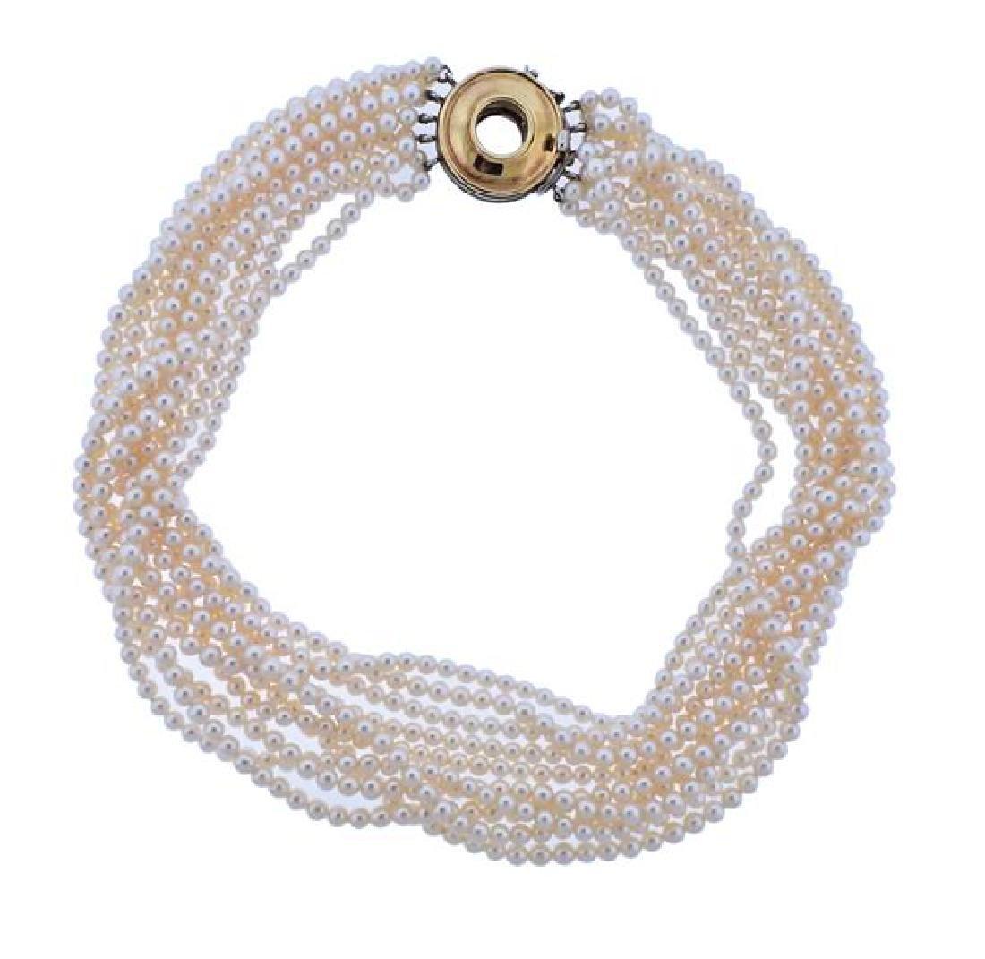 Tiffany & Co Paloma Picasso Gold Silver Clasp Pearl