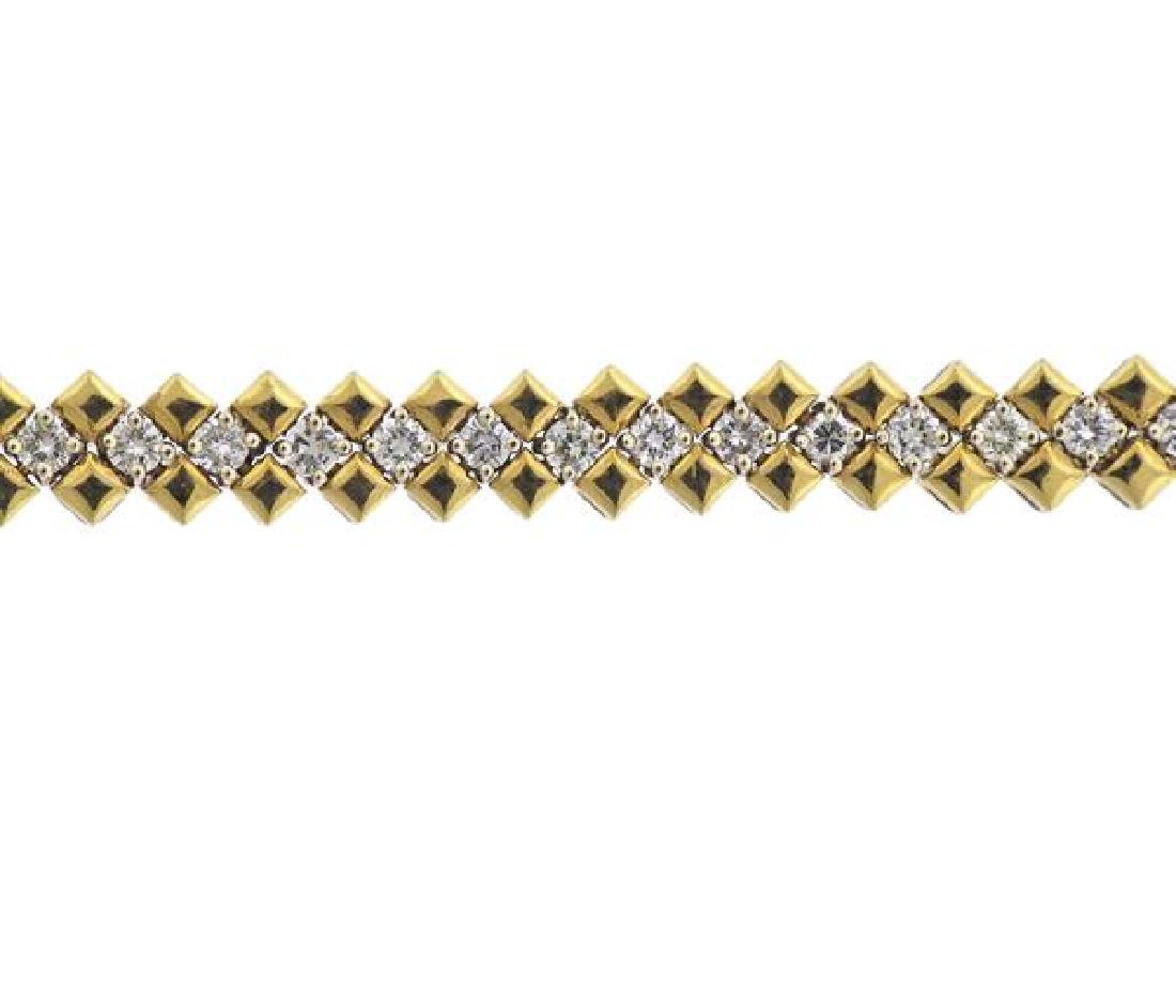 18K Gold Diamond Bracelet - 2