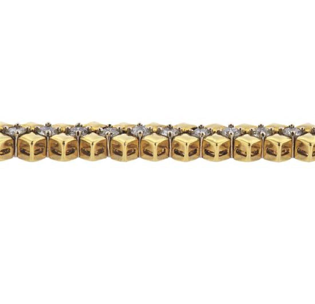 18K Gold Diamond Bracelet - 3