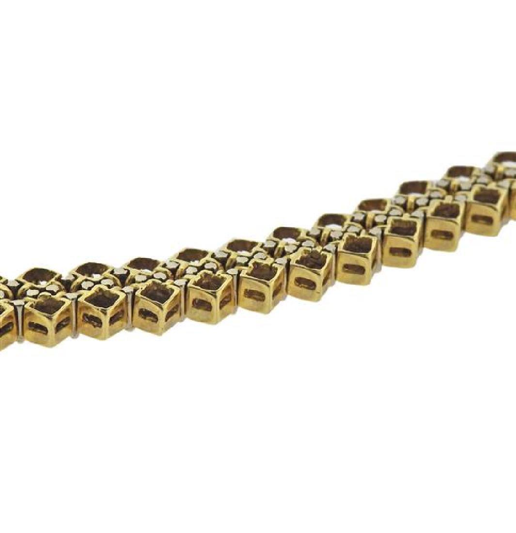 18K Gold Diamond Bracelet - 4