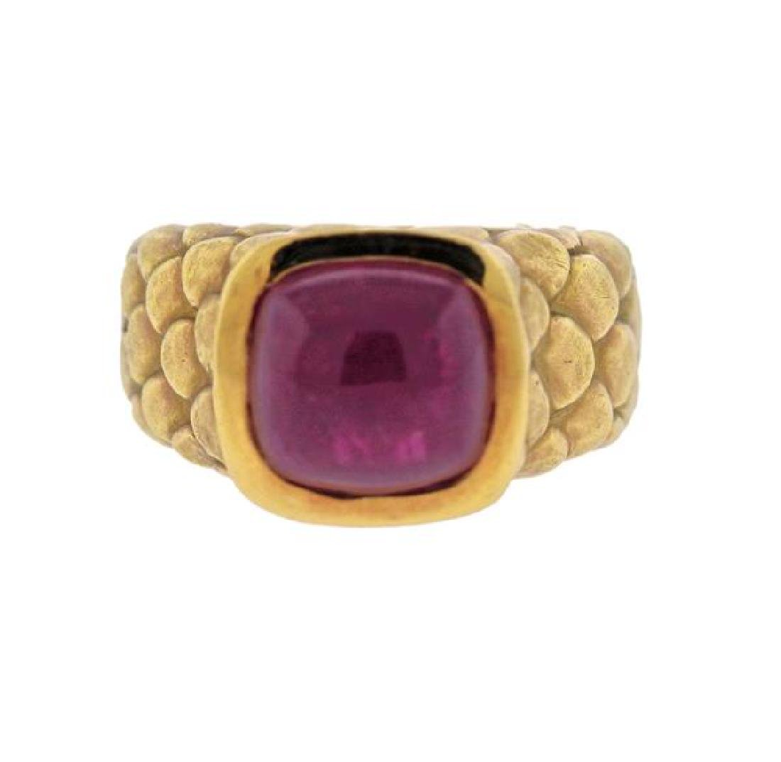 Angela Cummings 18K Gold Ruby Ring