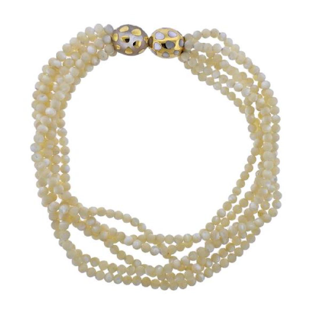 Tiffany & Co Positive Negative MOP Gold Necklace
