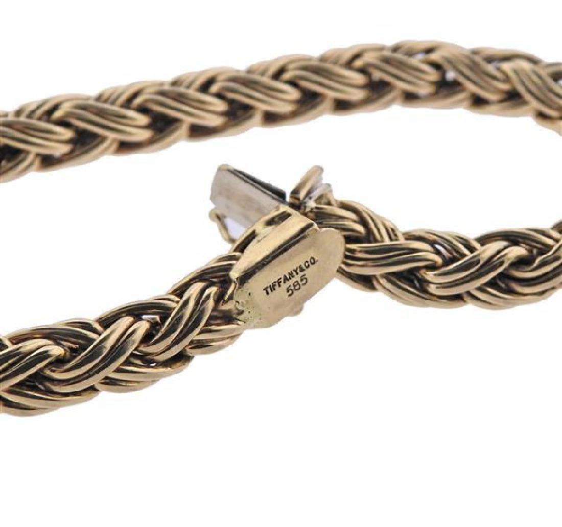 Tiffany & Co 14K Gold Russian Braid Bracelet - 3