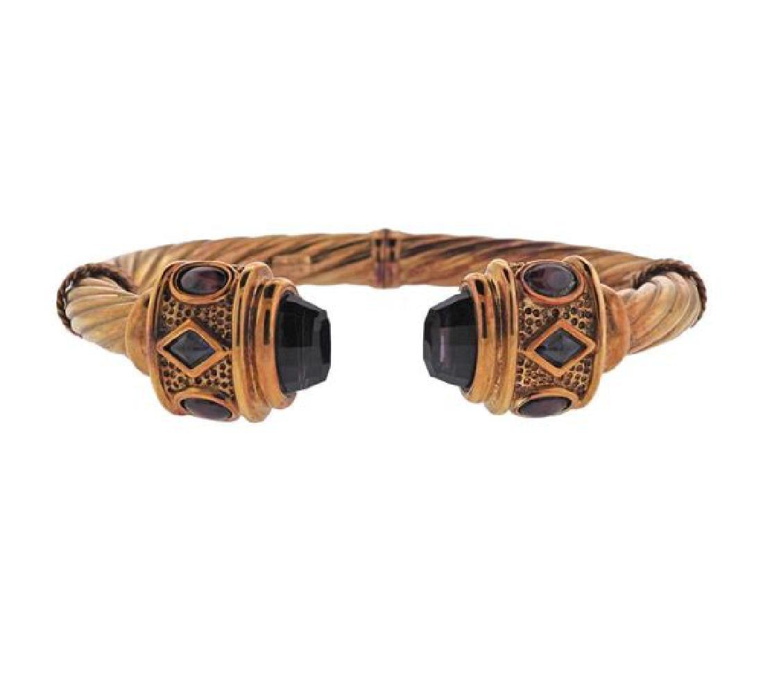 14K Gold Mulri Color Gemstone Bracelet