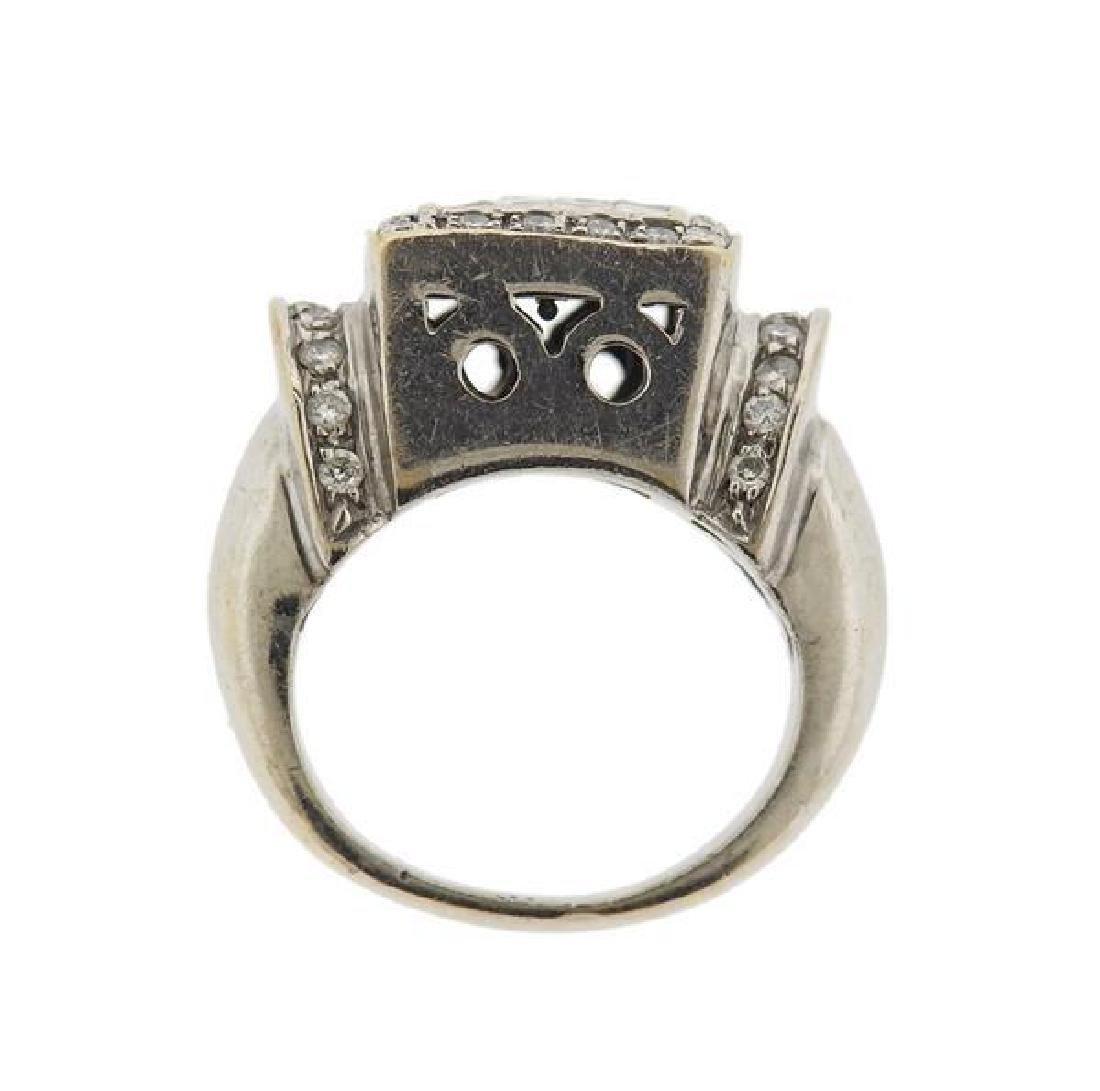 18k Gold Diamond Ring - 4