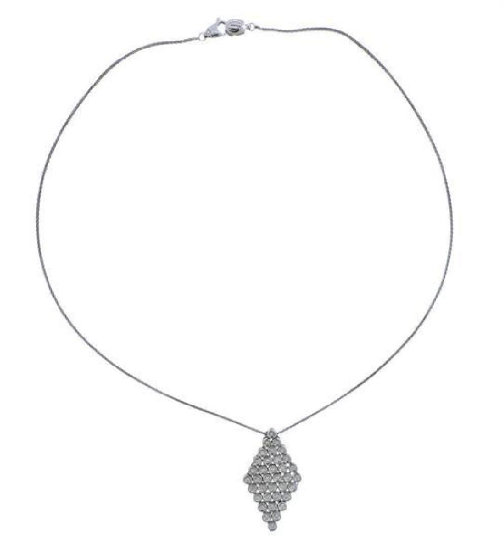 Damiani 18K Gold Diamond Pendant Necklace