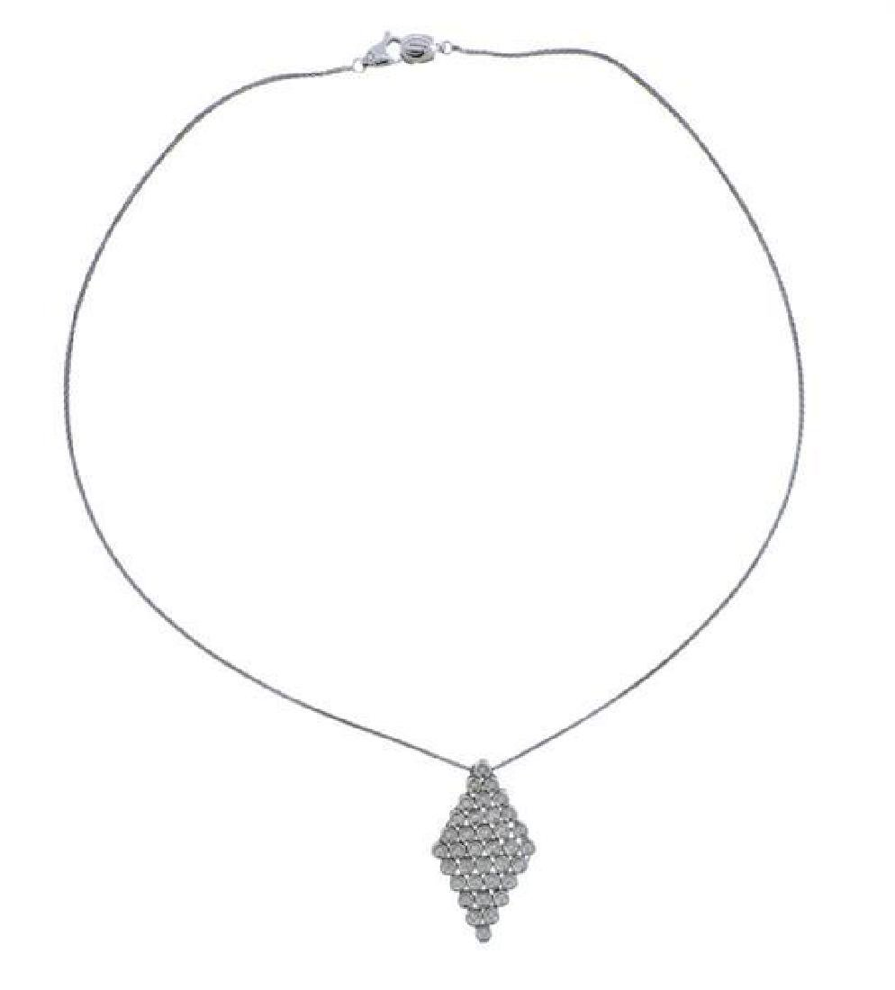 Damiani 18K Gold Diamond Pendant Necklace