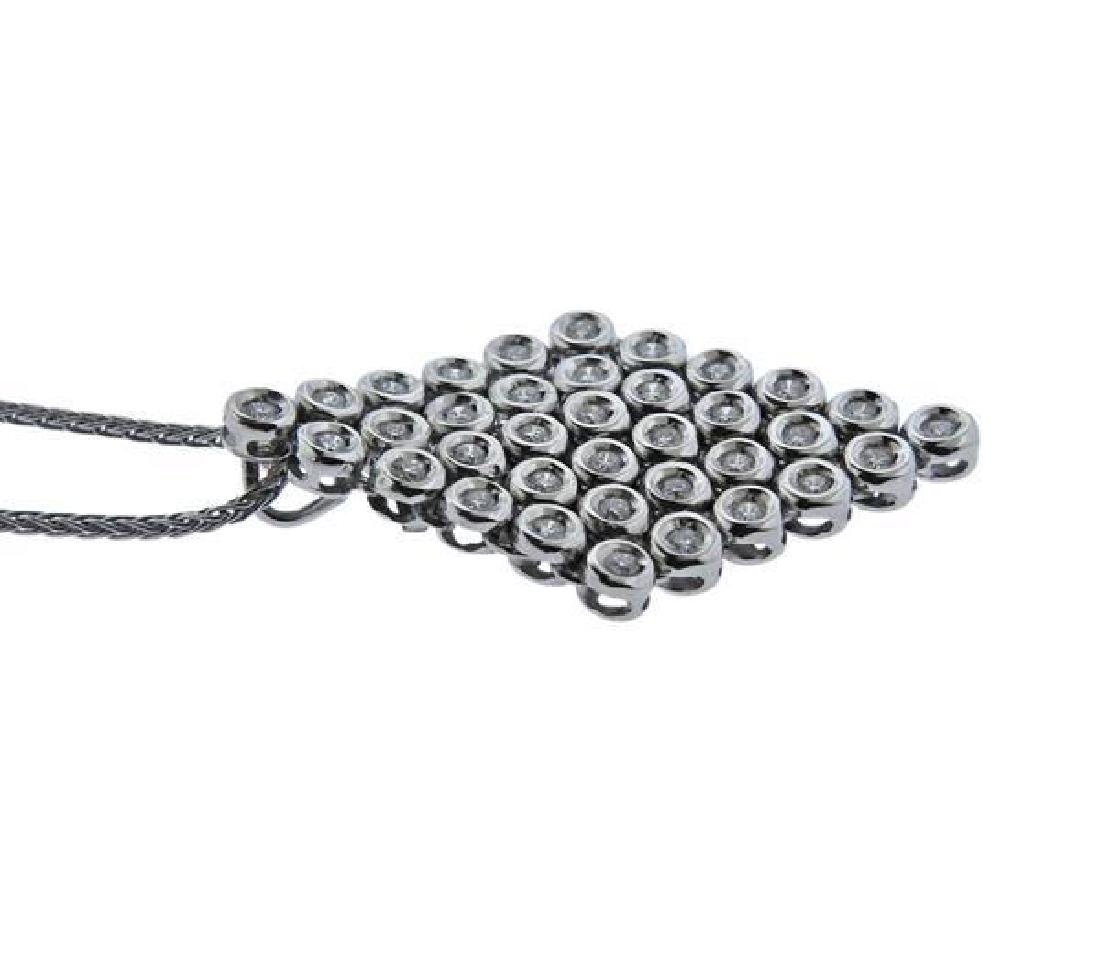 Damiani 18K Gold Diamond Pendant Necklace - 3