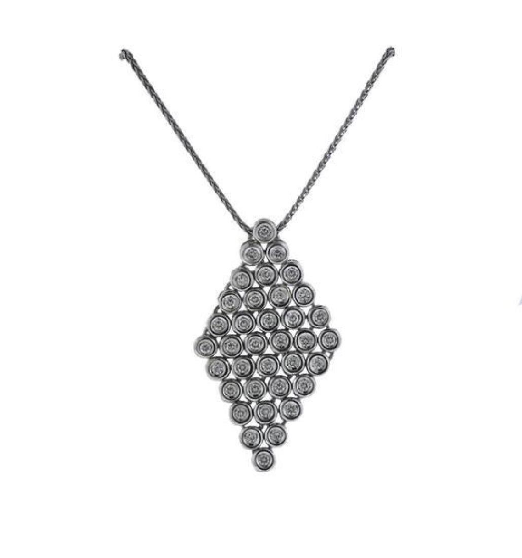 Damiani 18K Gold Diamond Pendant Necklace - 4