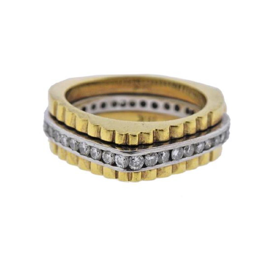 18K Gold Diamond Band Ring