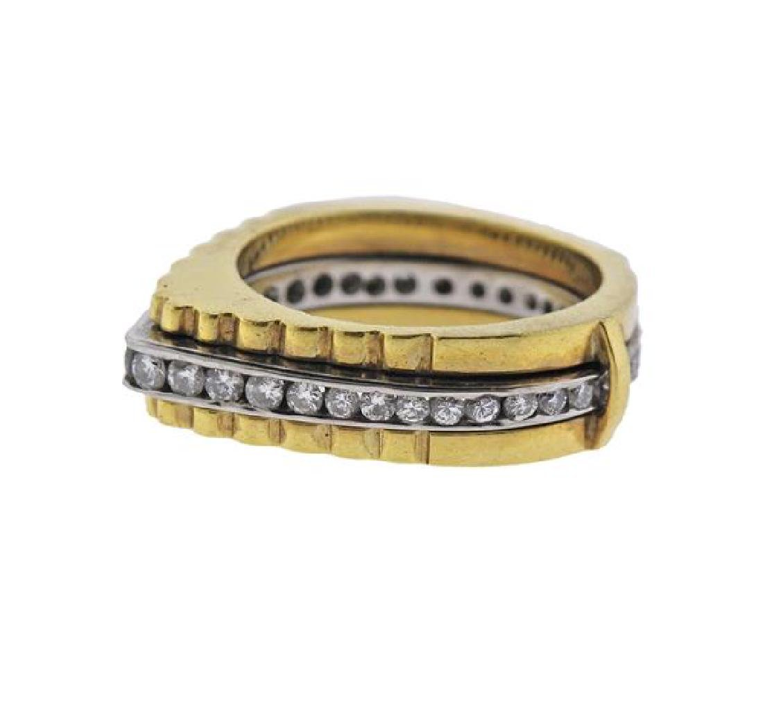 18K Gold Diamond Band Ring - 2