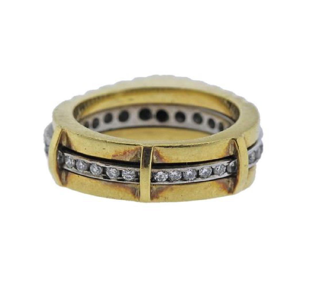 18K Gold Diamond Band Ring - 3
