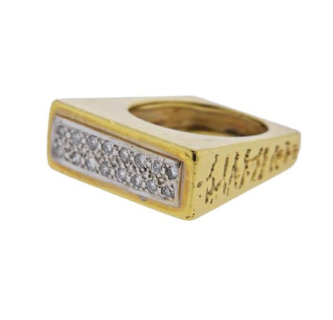 18K Gold Diamond Ring - 2