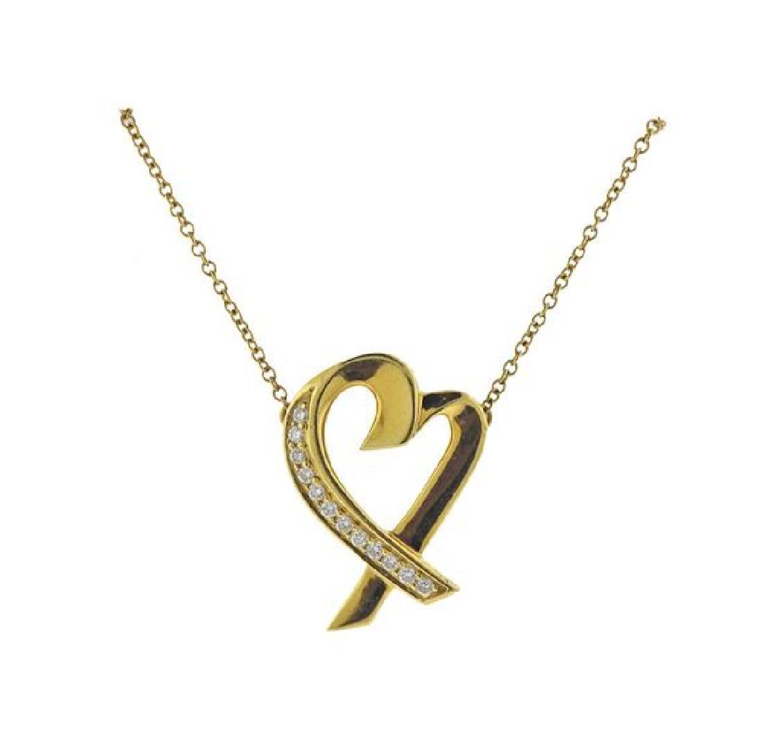 Tiffany & Co Picasso  18K Gold Diamond Heart