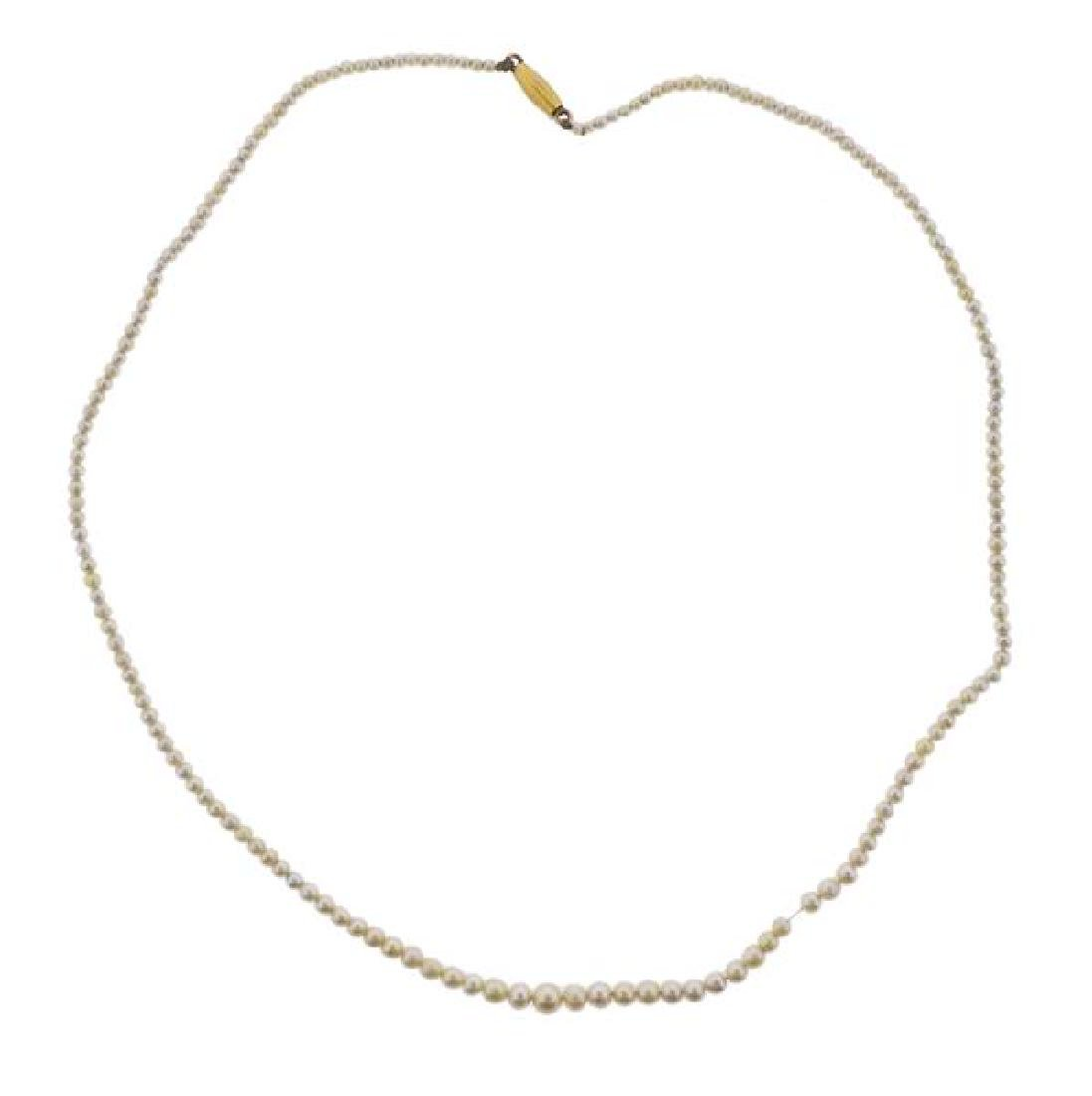 Natural Pearl 18k Gold Necklace