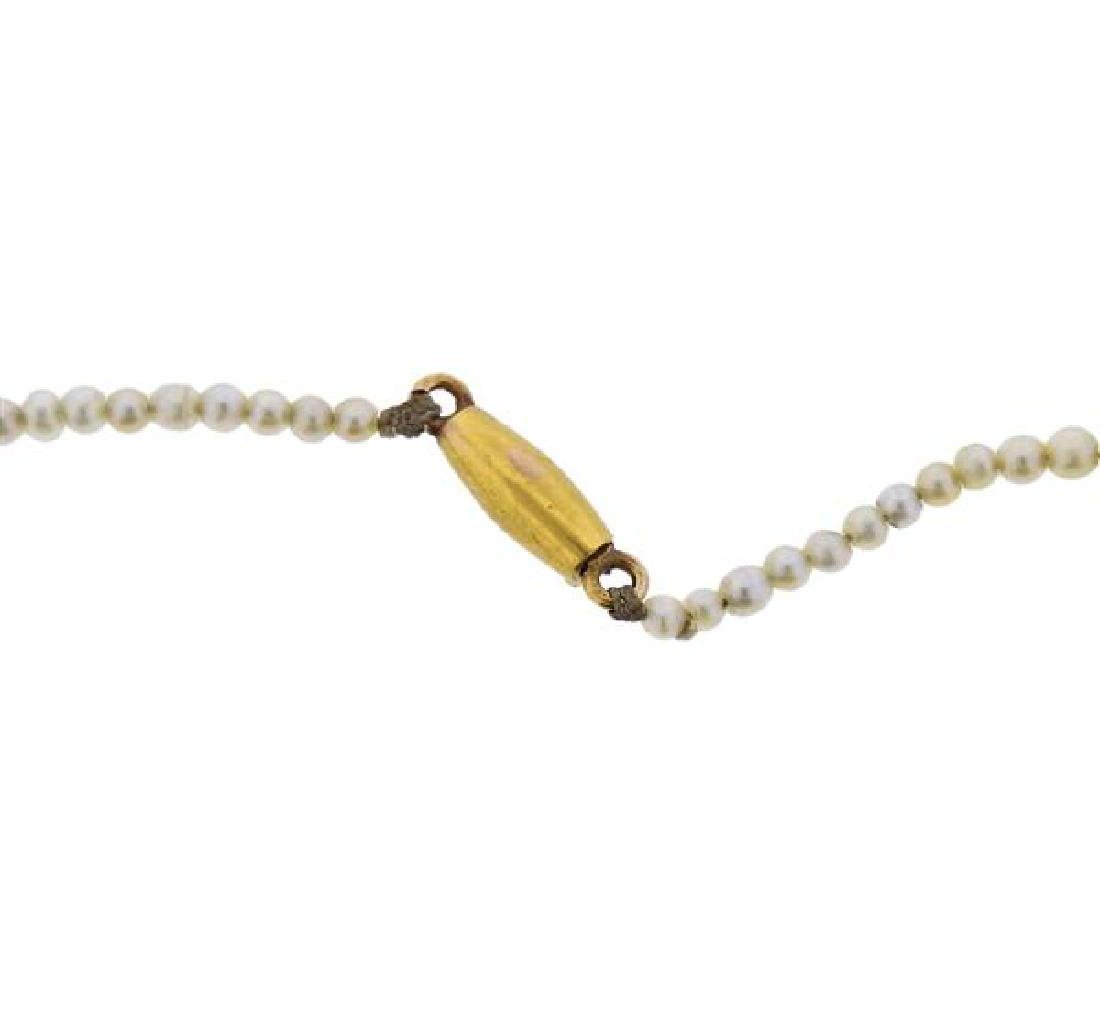 Natural Pearl 18k Gold Necklace - 2