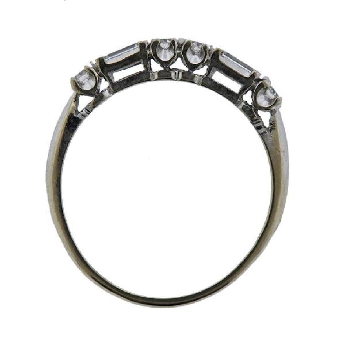 14K Gold Diamond Half Band Ring - 3