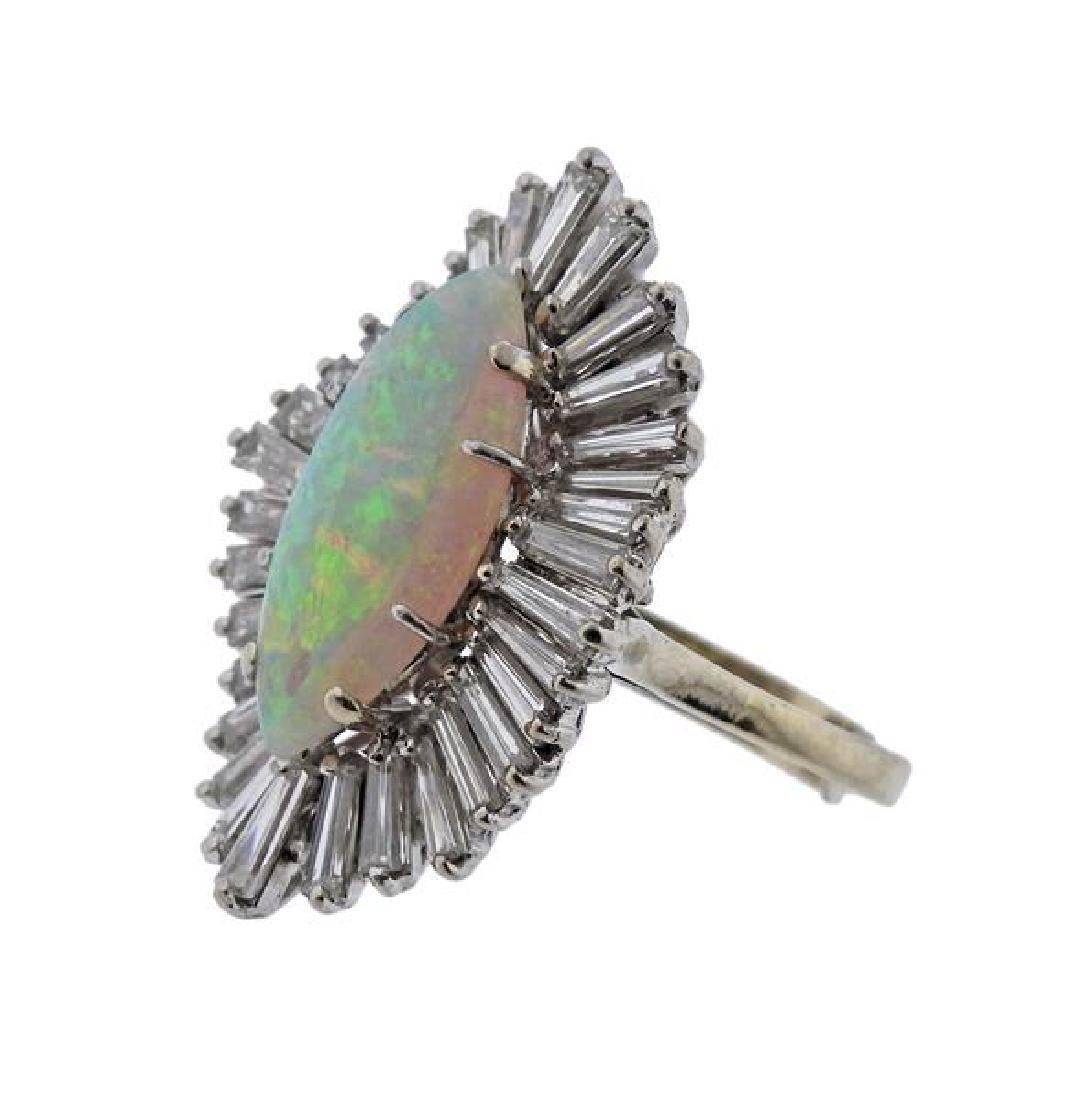 14K Gold Diamond Opal Cocktail Ring - 2