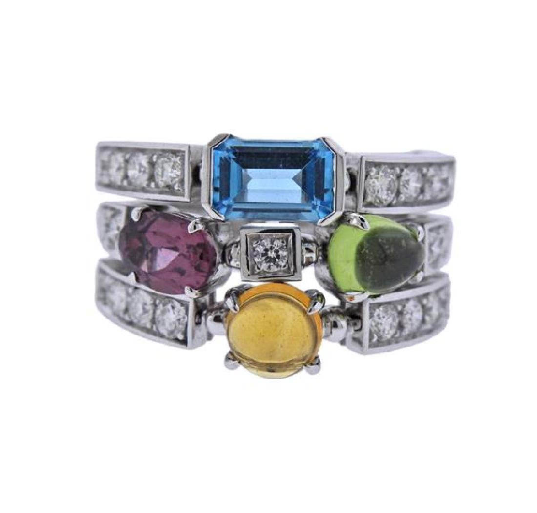 Bulgari Bvlgari Allegra 18K Gold Diamond Gemstone Ring