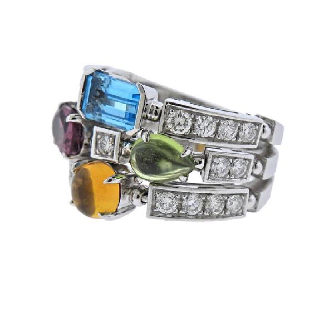 Bulgari Bvlgari Allegra 18K Gold Diamond Gemstone Ring - 2