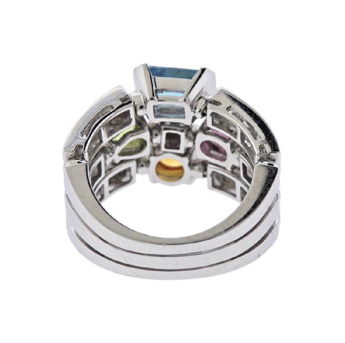 Bulgari Bvlgari Allegra 18K Gold Diamond Gemstone Ring - 3