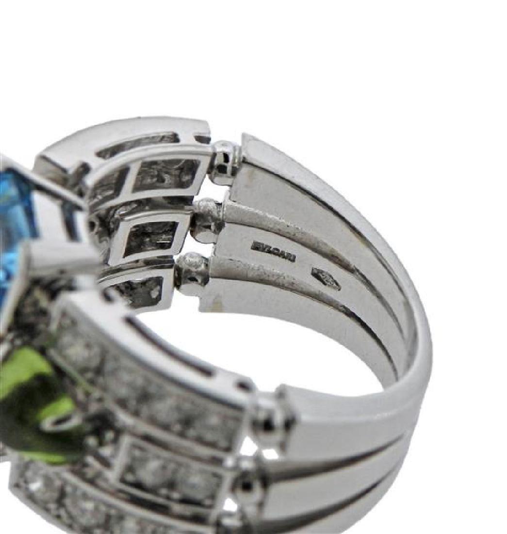 Bulgari Bvlgari Allegra 18K Gold Diamond Gemstone Ring - 4