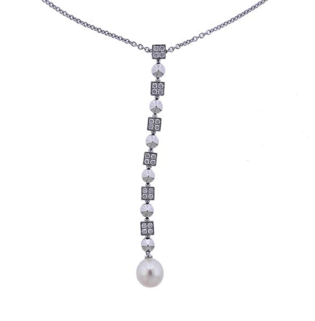Bulgari Bvlgari Lucea 18K Gold Diamond Pearl Necklace - 2