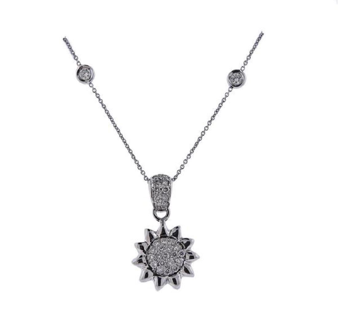 Roberto Coin 18K Gold Diamond Sun Pendant Necklace