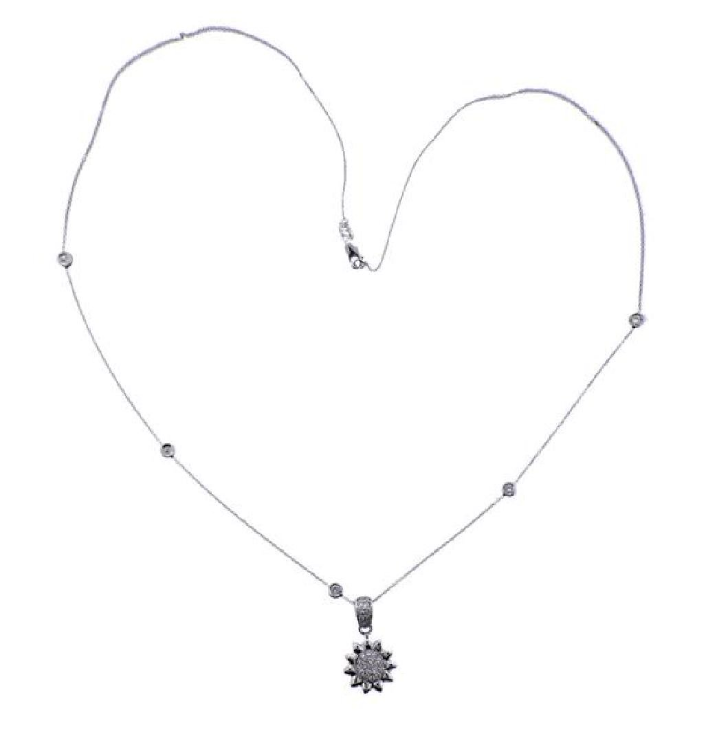 Roberto Coin 18K Gold Diamond Sun Pendant Necklace - 2