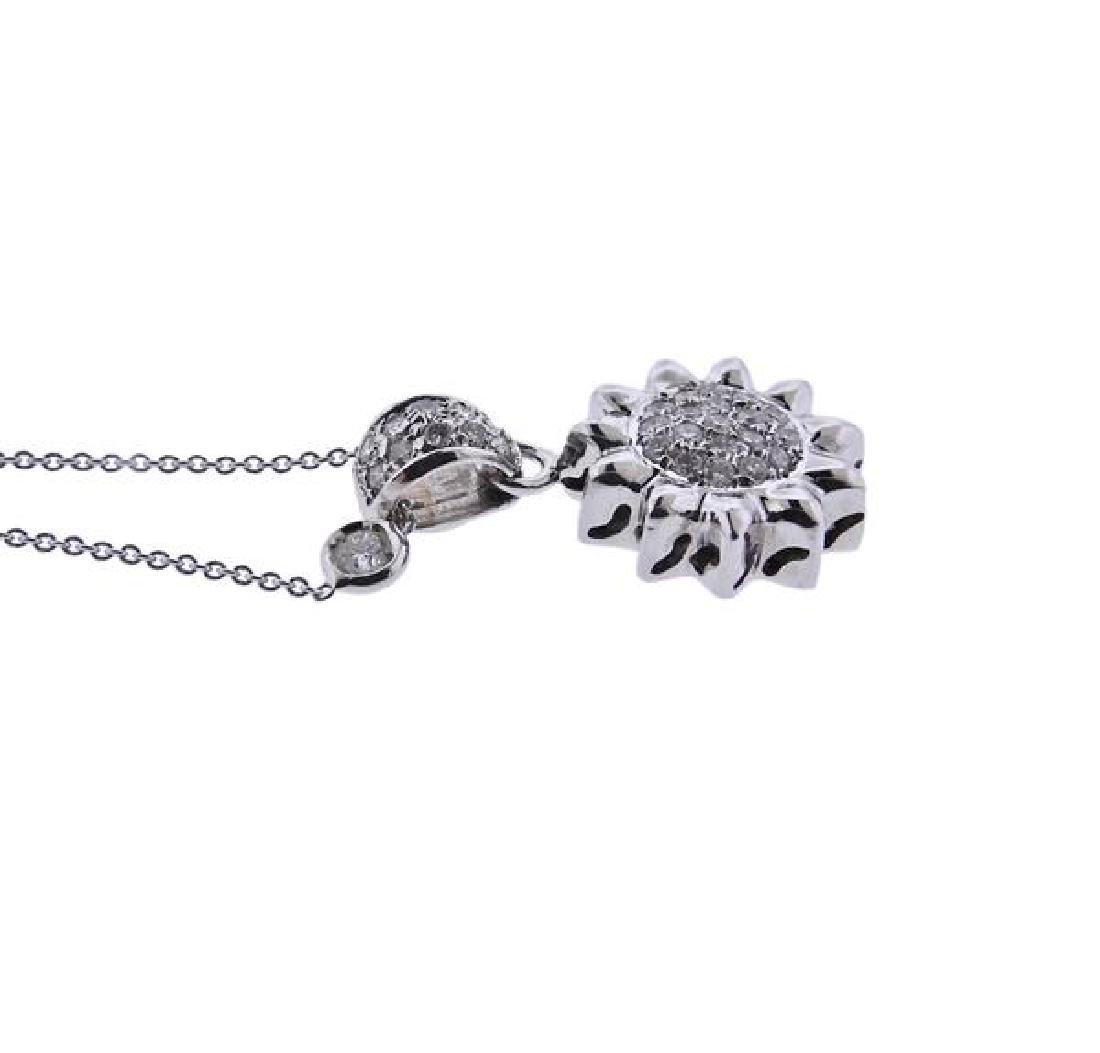 Roberto Coin 18K Gold Diamond Sun Pendant Necklace - 3
